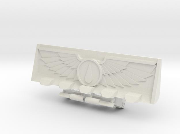 Teardrop Devotional Bulldozer Blade Kit in White Strong & Flexible