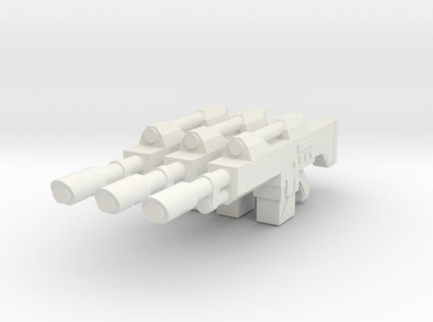 1/18 scale Laser rifle in White Natural Versatile Plastic