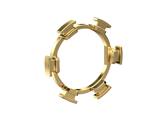 """HILT GX16 Connector Holder 7/8"""" Gate Ring in Natural Brass"""