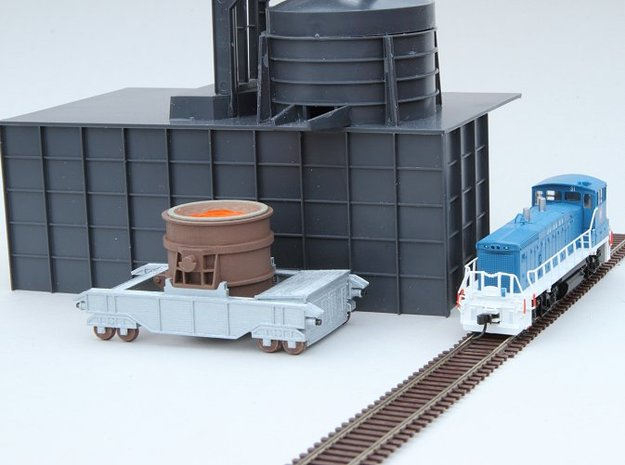 N-scale 250t Ladle Transfer Car in Smooth Fine Detail Plastic