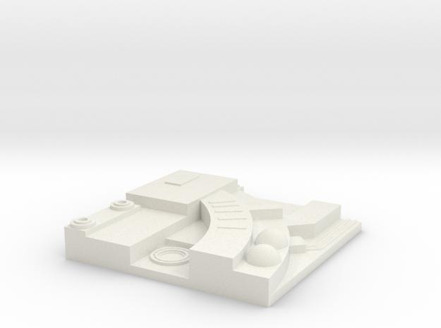 tile_deathstar_13 in White Natural Versatile Plastic