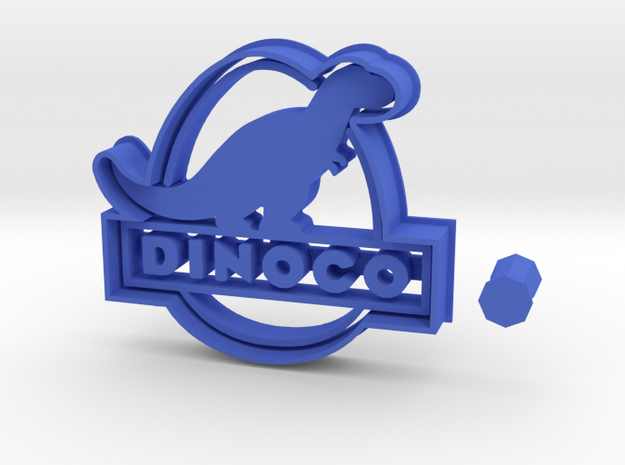 Dinoco Logo from Cars 3 Cookie Cutter + Handle