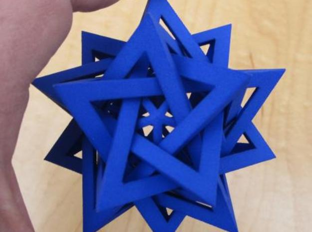Five Tetrahedra Plus in Blue Strong & Flexible Polished