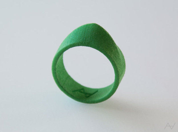 Climax Ring in Green Strong & Flexible Polished: 8.5 / 58