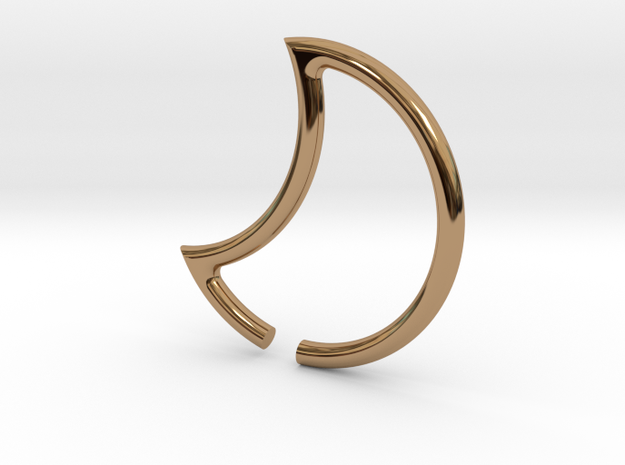 luna ear weights in Polished Brass