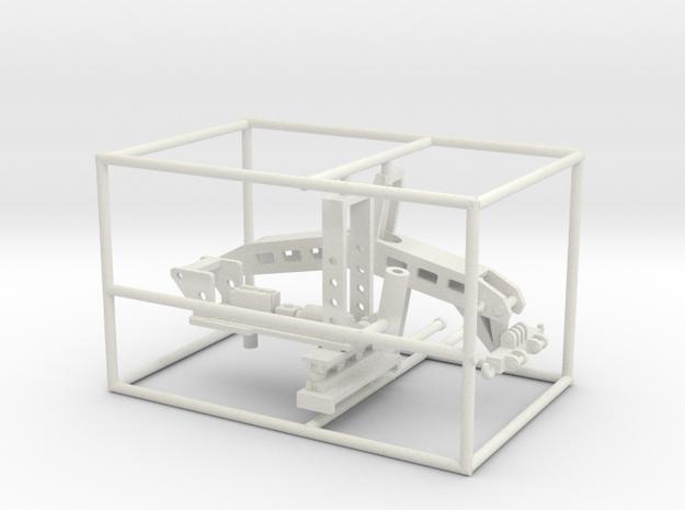 1/50th Fifth Wheel Tow Bar Wrecker unit in White Natural Versatile Plastic