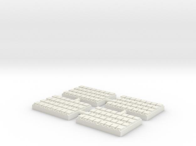 1/300 32 Cell Mk 41 VLS (x4) in White Natural Versatile Plastic