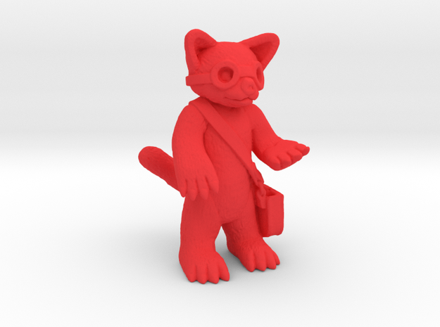 Red Panda Explorer in Red Strong & Flexible Polished