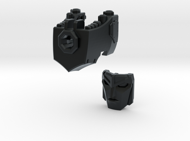 (1.5mm Screw) TR Faceplate & Helm for CW Megatron in Black Hi-Def Acrylate