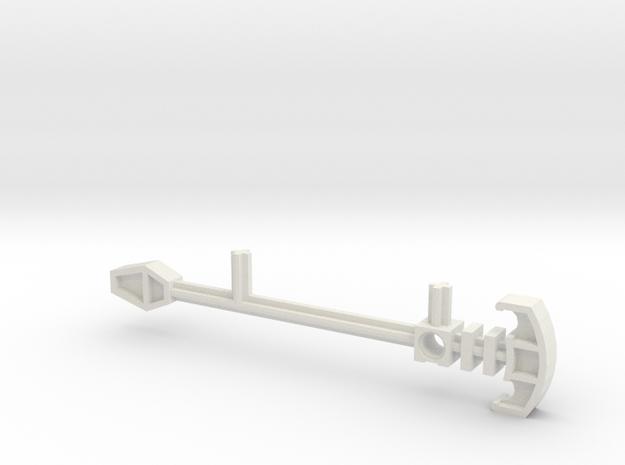 Bionicle staff (Matau, set form) in White Natural Versatile Plastic