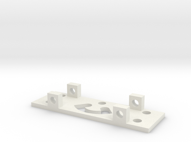 GEAR RIGHT BRACKET in White Strong & Flexible