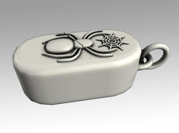 Heartbox Locket (Spider) 3d printed Closed and locked.