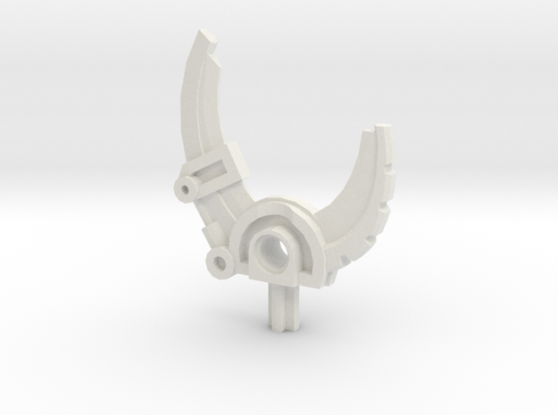 Bionicle weapon (Hewkii, set form) in White Natural Versatile Plastic