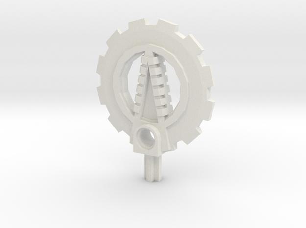 Bionicle weapon (Matoro, set form) in White Natural Versatile Plastic