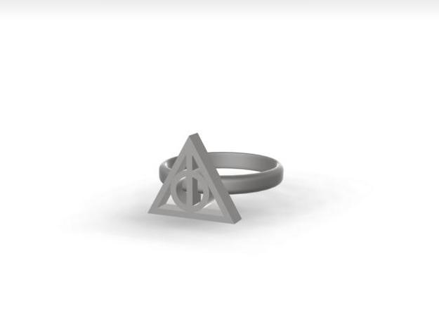 Harry Potter Deathly Hallows Ring 3d printed rendered view