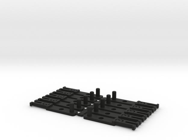 OO NEM Type 3 Coach Drawbar X10 in Black Strong & Flexible