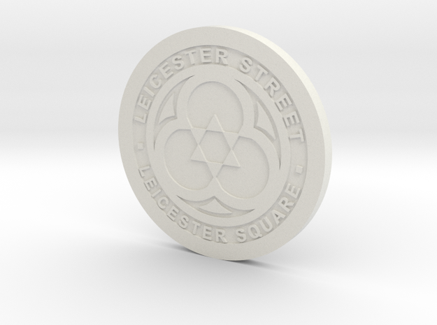 1:9 Scale Leicester Manhole Cover in White Natural Versatile Plastic