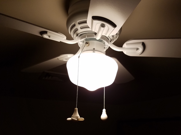 Ceiling Fan Pull-Chain Ornaments in White Strong & Flexible Polished