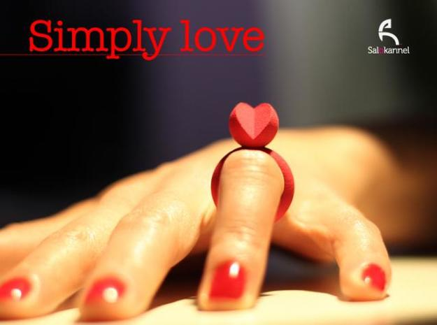 SIMPLY LOVE - size 6 in Red Processed Versatile Plastic