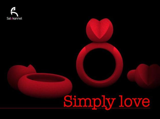 SIMPLY LOVE - size 7 3d printed SIMPLY LOVE