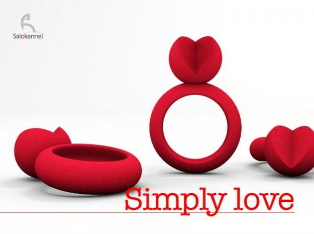 SIMPLY LOVE - size 8 3d printed Description