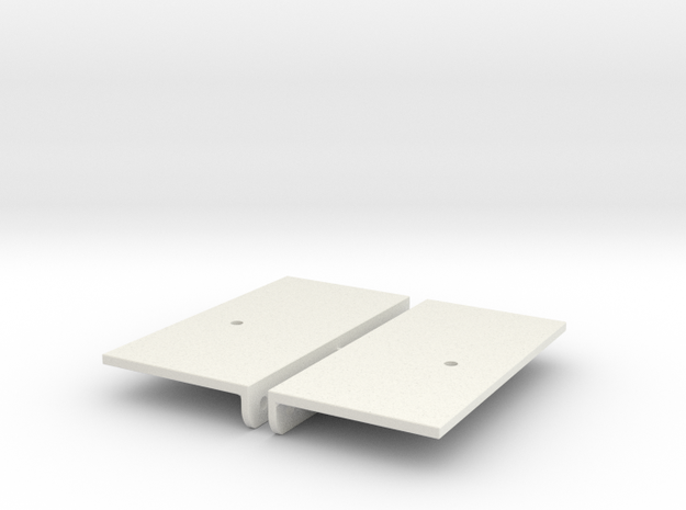 1/10 Scale Jeep mounts for SCX10 (sides) in White Natural Versatile Plastic