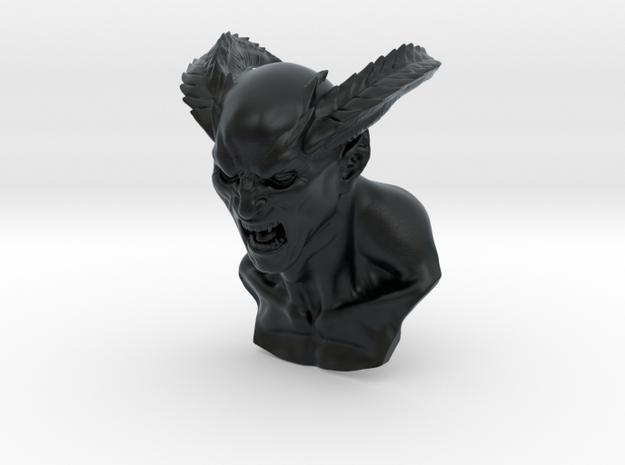 Screaming Demon in Black Hi-Def Acrylate