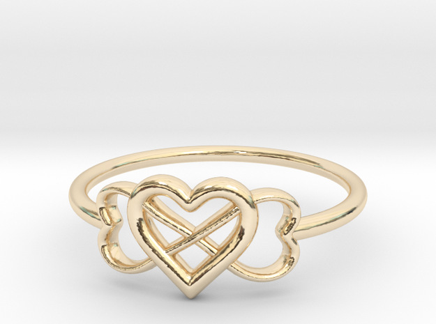 Infinity Love Ring  in 14k Gold Plated: 5 / 49