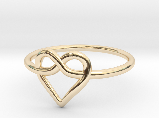 Infinity Love Ring  in 14k Gold Plated Brass: 5 / 49