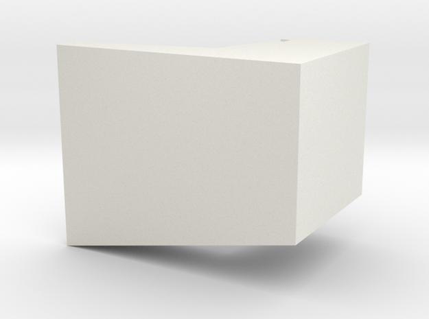 Thorens Turntable TP-60 Overhang Alignment Gauge in White Natural Versatile Plastic