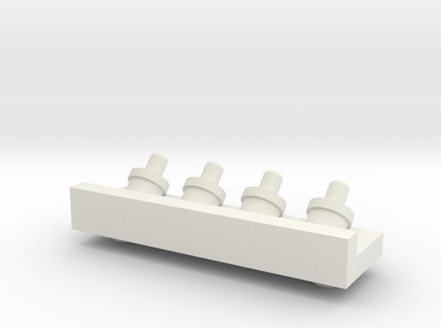 1.6AirHoseBracketV2.stl in White Natural Versatile Plastic