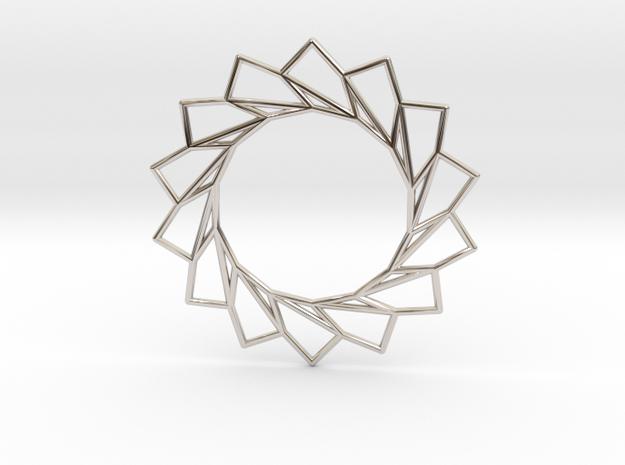 Spiral Flower Pendant in Rhodium Plated
