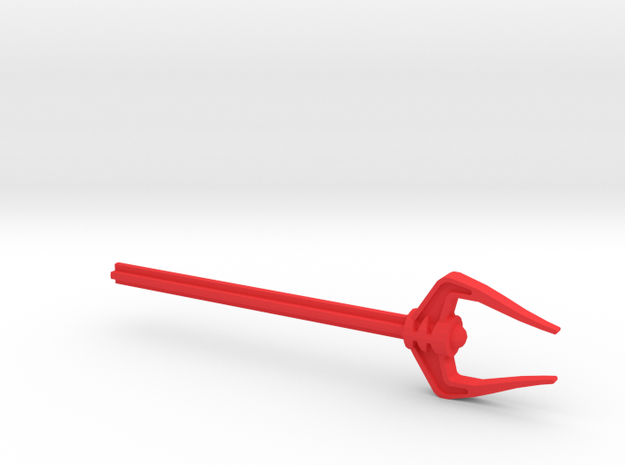 Ta-Koro Guard staff in Red Processed Versatile Plastic