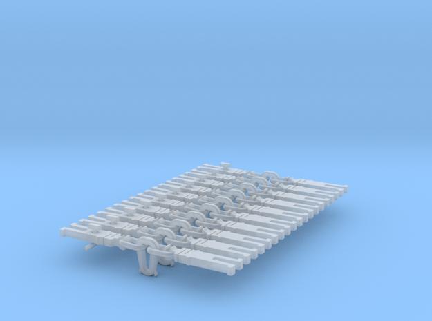NEM OO Type 17 Couplings - Strait Instanter x10 in Smooth Fine Detail Plastic