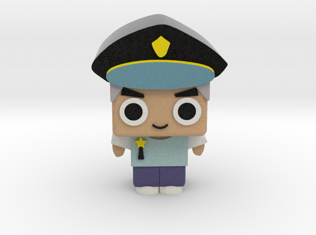 Policeman in Full Color Sandstone