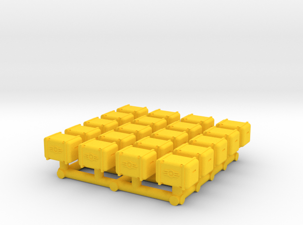 Bunker-Tec Storage Container Pack 1 in Yellow Strong & Flexible Polished