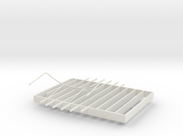 Stern Decking Support and Depression Rails for S38 in White Natural Versatile Plastic