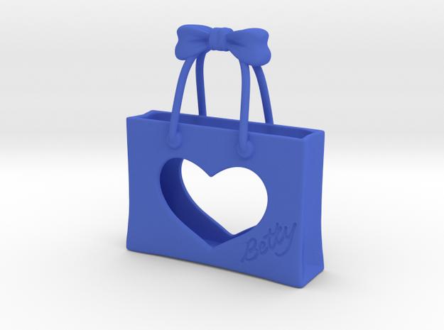 Shopping Bag in Blue Processed Versatile Plastic