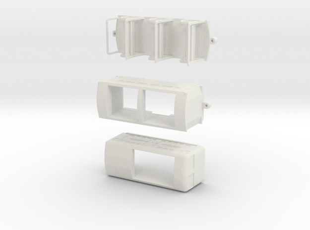 Triang Minic Narrowgauge Railway set in White Natural Versatile Plastic