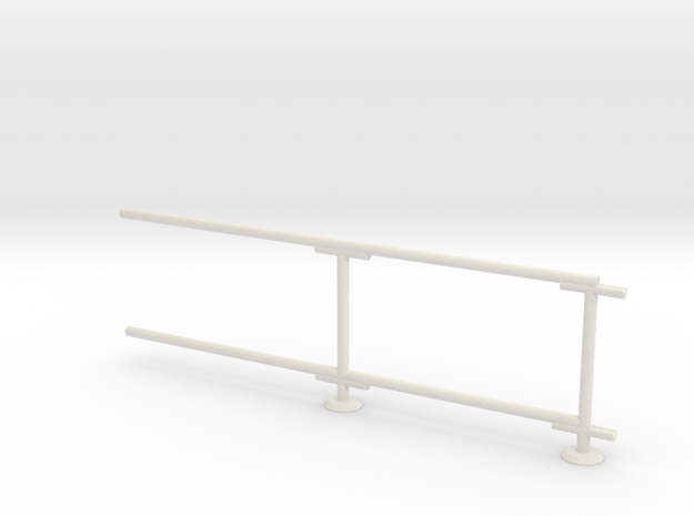 6' Chain-link Barrier Fence        2-Bay (HO) in White Natural Versatile Plastic: 1:87 - HO