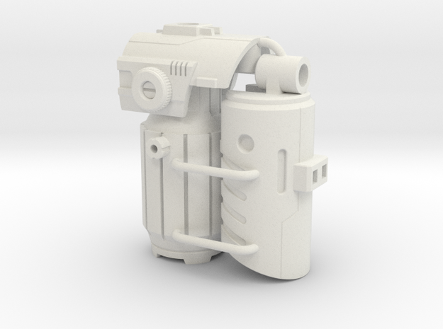 Fusion Cannon Mk.V in White Natural Versatile Plastic