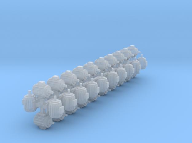 Elektromotoren Größe D 40er Set 1:120 in Smooth Fine Detail Plastic