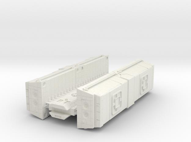 Bulk Shipping Freighter in White Natural Versatile Plastic