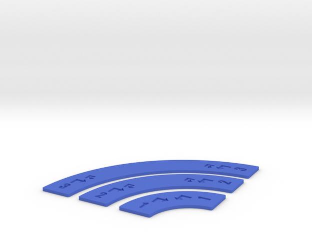 Customizable Turn Movement Sticks in Blue Processed Versatile Plastic