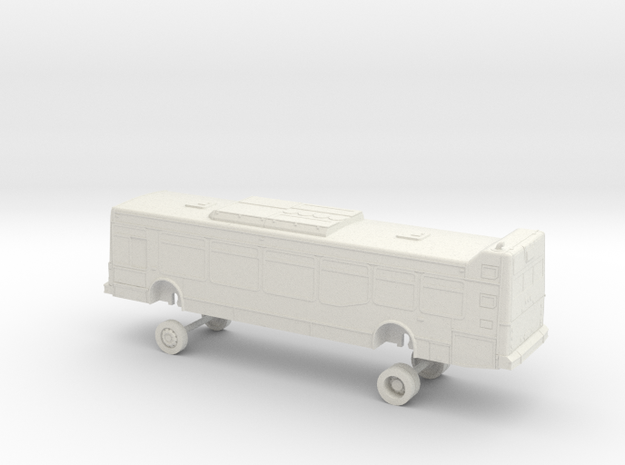 HO Scale Bus NABI 40-LFW OCTA 2200/2300s in White Natural Versatile Plastic