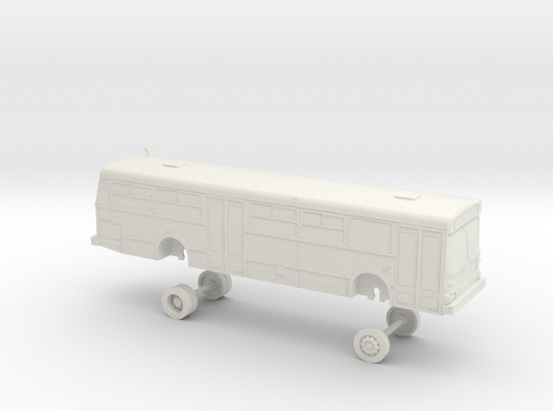 HO Scale Bus New Flyer D40 Muni 8900s in White Natural Versatile Plastic