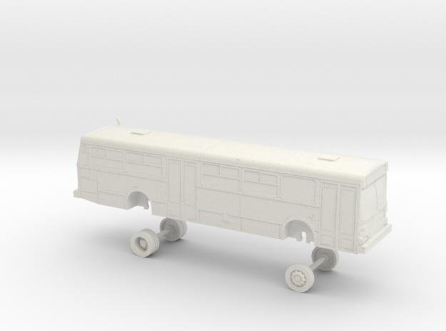 HO Scale Bus New Flyer D40 Muni 8900s in White Natural Versatile Plastic
