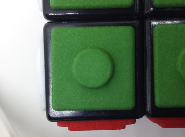 Green replacement tile (Rubik's Blind Cube) in Green Processed Versatile Plastic