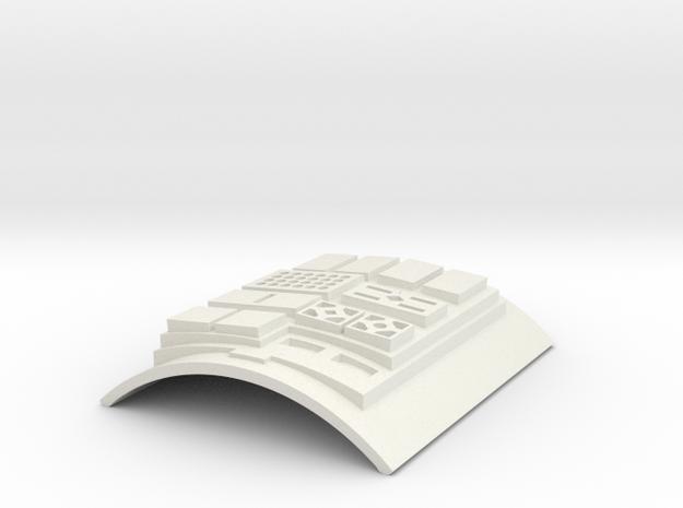 Commpad Config 2 in White Natural Versatile Plastic