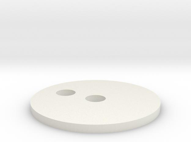 Mic Tip Base in White Natural Versatile Plastic